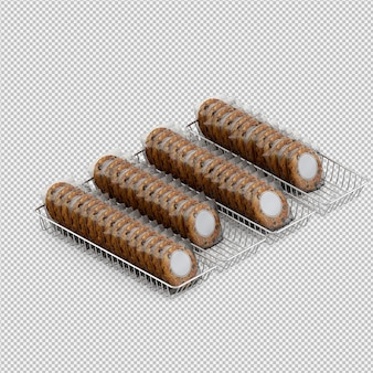 Biscuits 3d isolated render