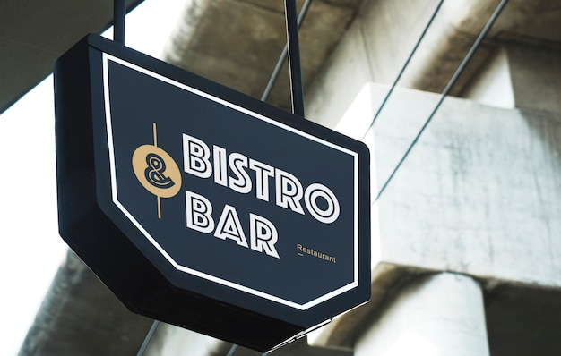 Bistro and bar restaurant board mockup