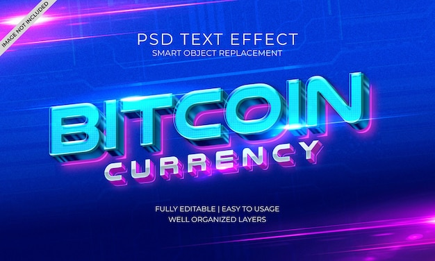 Влияние текста валюты bitcoin