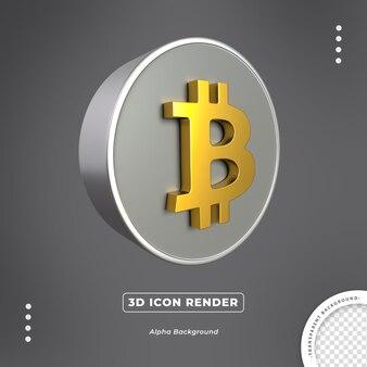 ビットコインゴールド3d通貨分離アイコンレンダリング