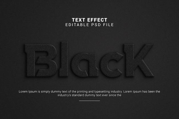 Black 3d editable text effect