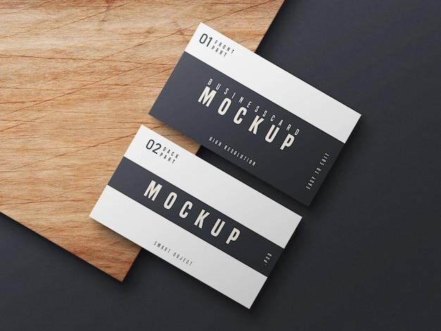 Черно-белый макет визитной карточки