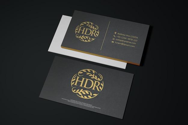 Черно-белая визитка макет с логотипом