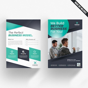 Black and white business flyer with aquarium details