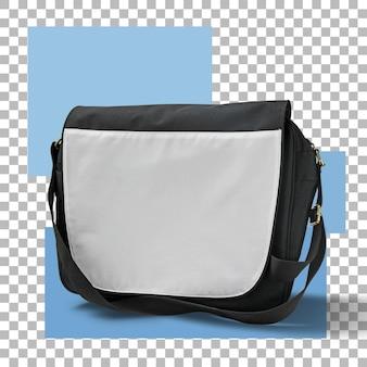 Черно-белая школьная сумка изолирована