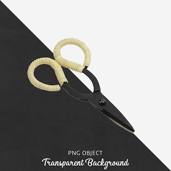 Черные антикварные ножницы на прозрачном