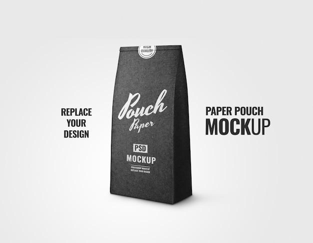 Black bakery bag paper mockup