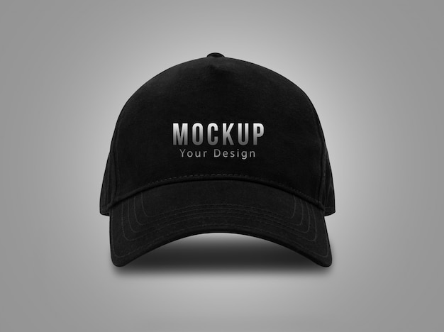 Black baseball cap for mockup