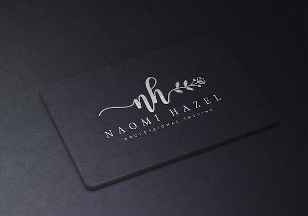 Black business card logo mockup premium psd