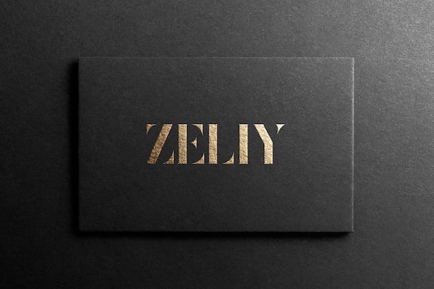 Черный макет логотипа визитной карточки