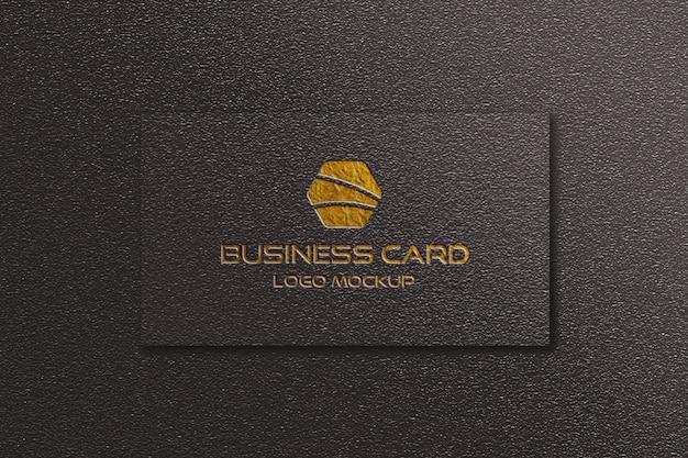 Черный визитная карточка с логотипом макет