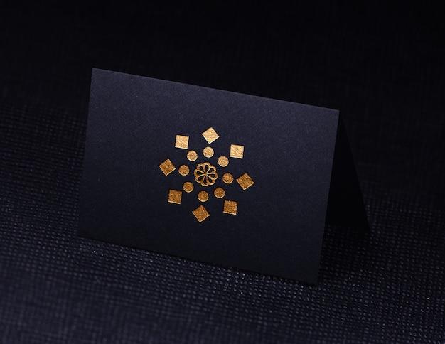 블랙 명함 로고 모형