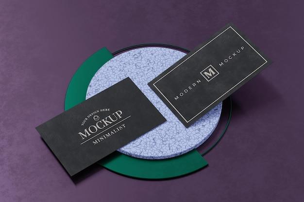 Дизайн макета черной визитки в 3d-рендеринге
