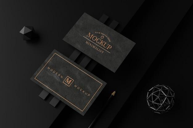 블랙 명함 모형