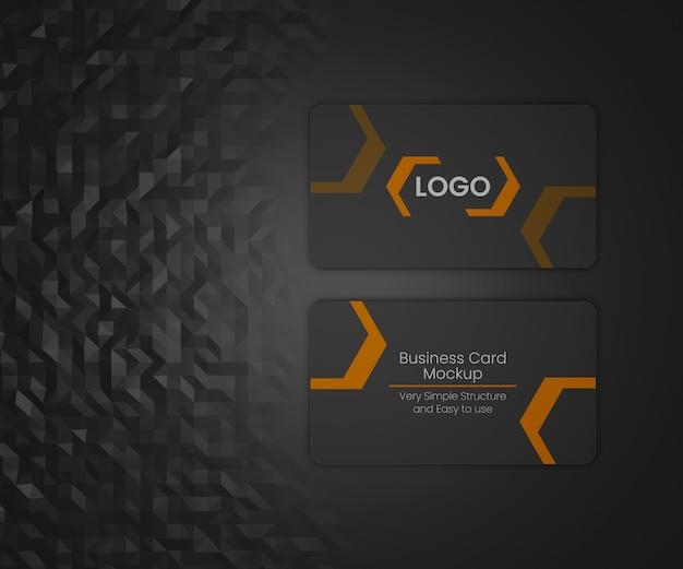 Черный макет визитной карточки