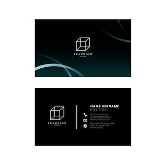 Черная визитка psd редактируемый шаблон