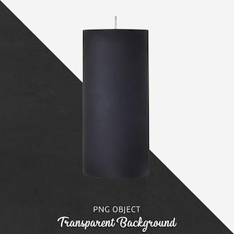 Black candle on transparent