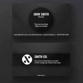 Black corporate business card