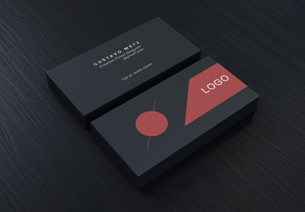 Black creative simple business card template