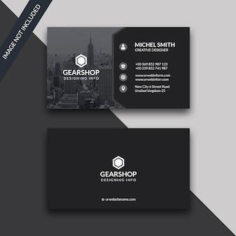 Black dark business card1