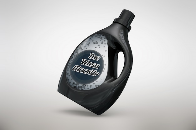 Black detergent packaging mock up