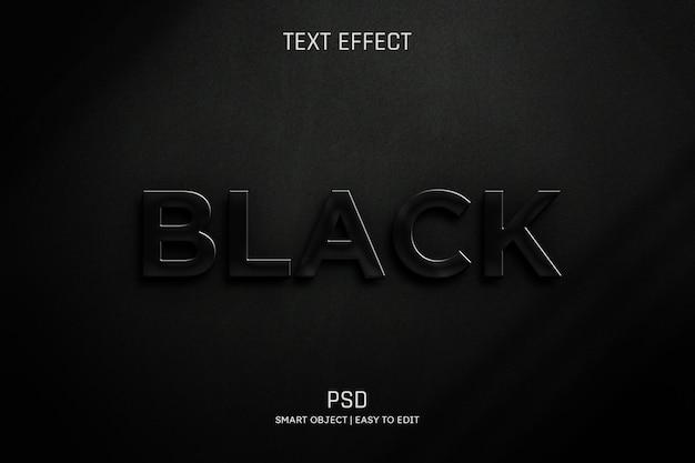 黒の編集可能なテキスト効果