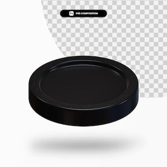 Черная пустая монета 3d-рендеринга изолированные