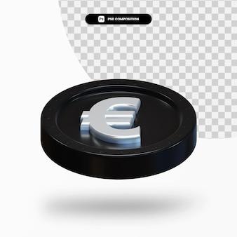 Черная биржа монеты 3d-рендеринга изолированные