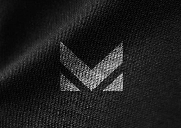 Black fabric canvas texture mockup