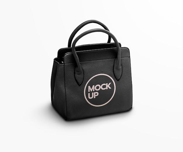 Черная модная сумка макет