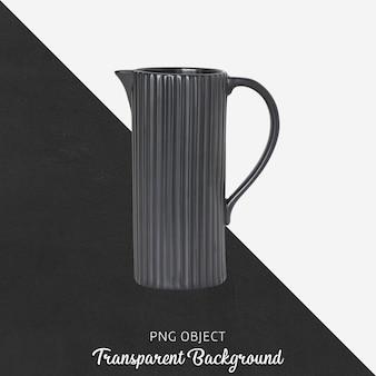 透明の黒い花の水まき缶