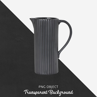 Black flower watering can on transparent