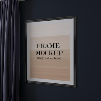 Black frame on dark wall design