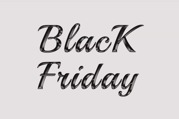 Black friday 3d text effects style