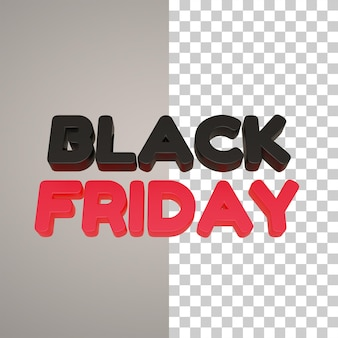 Black friday 3d writing in red and black