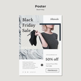 Black friday ad poster template