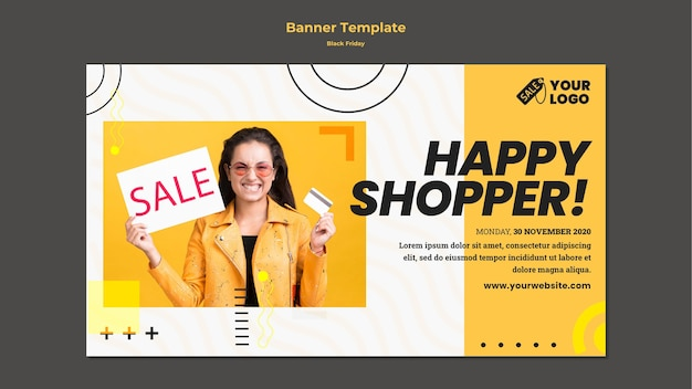 Black friday ad template banner