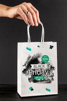 Black friday bag concept mock-up