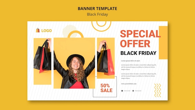 Black friday banner template design