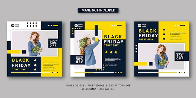 Black friday banner template
