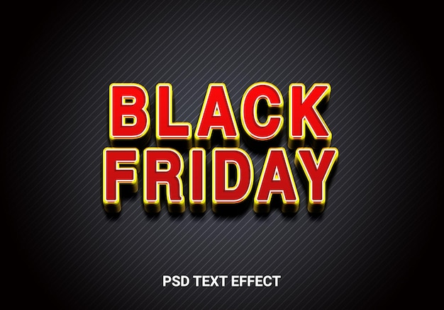 Black friday bold style editable text effects