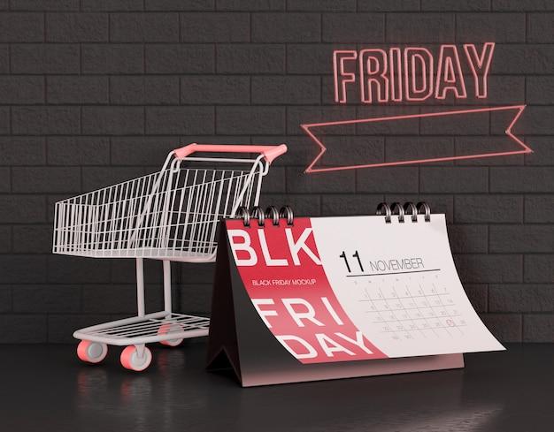 Black friday calendar mockup