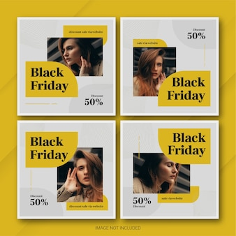 The black friday campaign instagram post bundle template