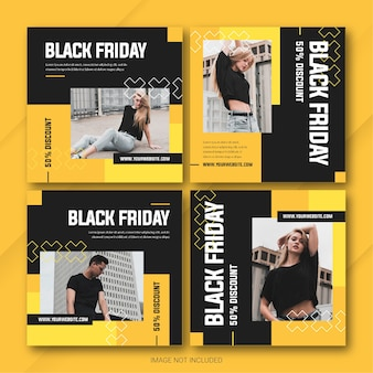블랙 프라이데이 캠페인 인스 타 그램 포스트 번들 템플릿