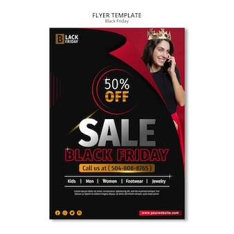 Black friday concept flyer template
