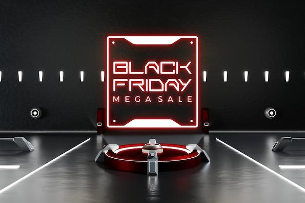 Макет концепции черной пятницы