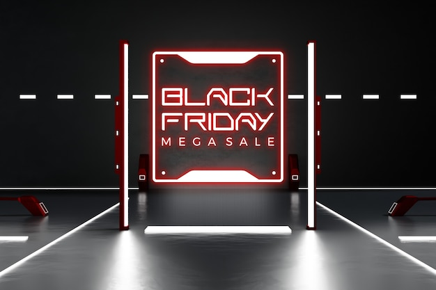 Black friday concept mockup