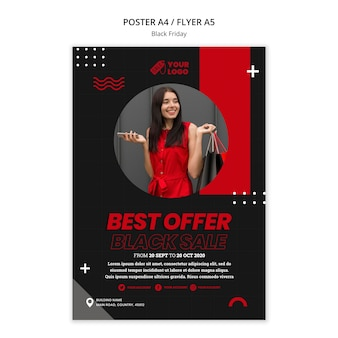 Black friday concept poster template