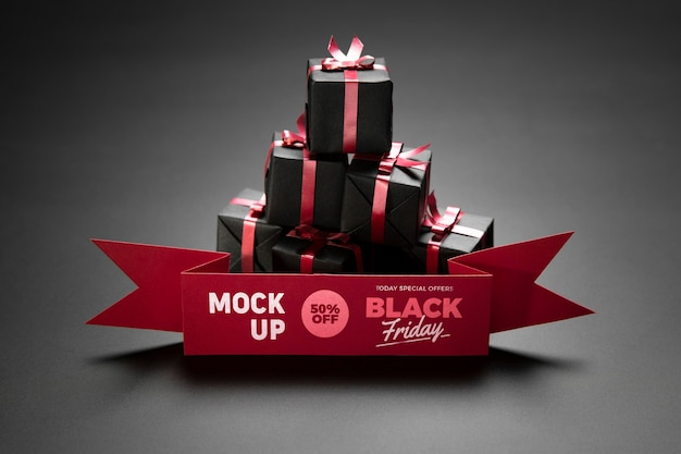 Black friday concept with mock-up