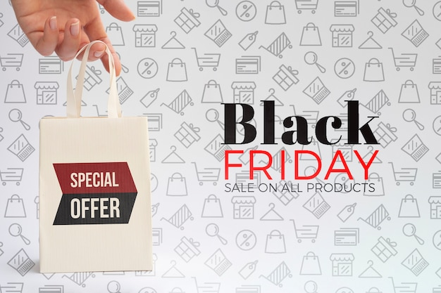 Black friday concept with plain background